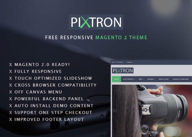 Pixtron Free Magento 2 Theme