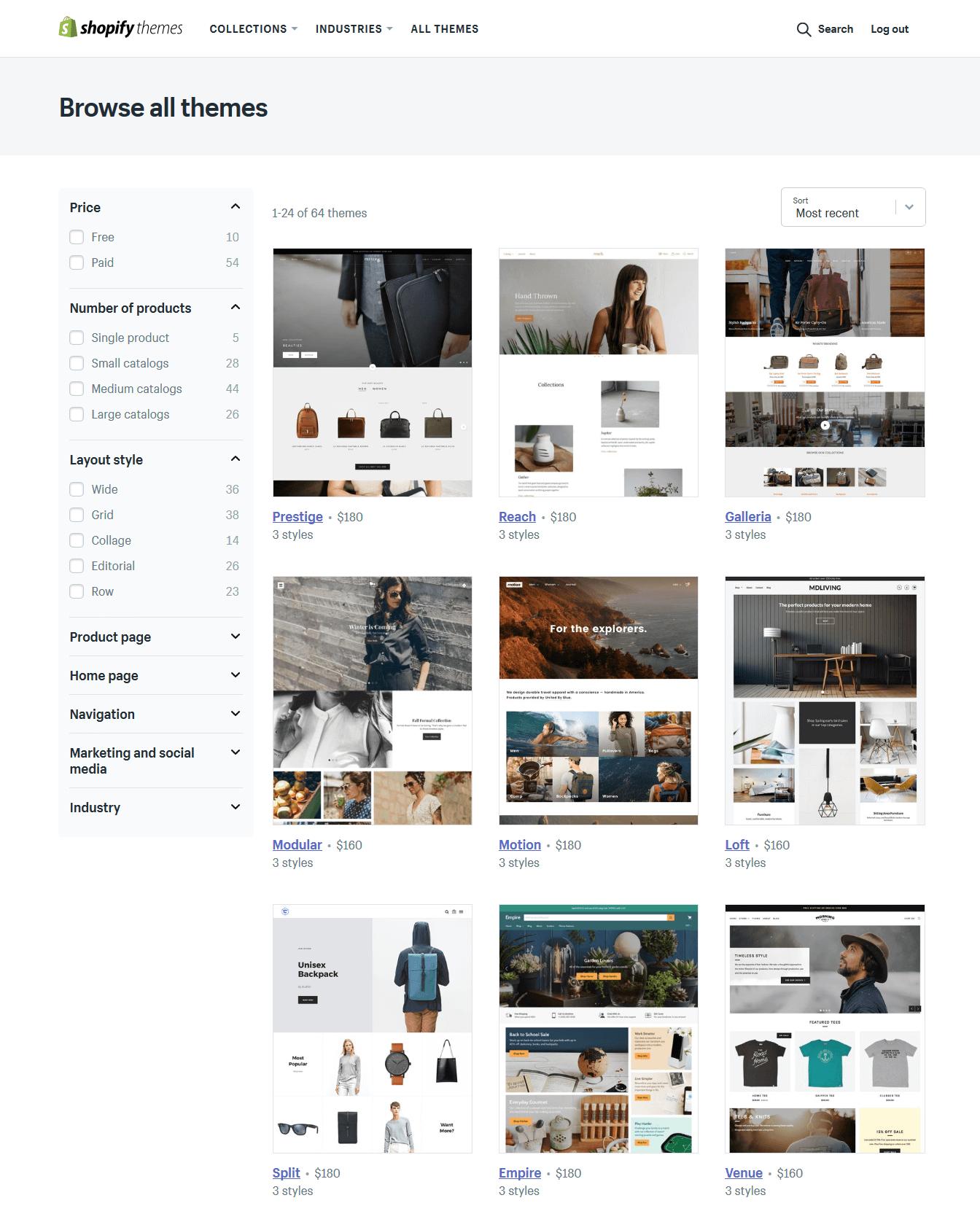 Shopify Browse Theme