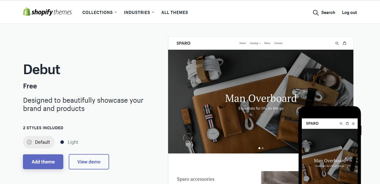 Shopify Debut Theme