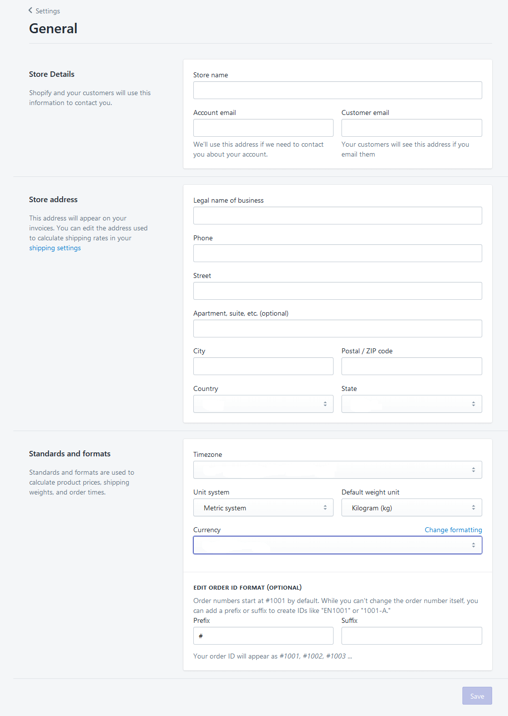 how to change order details on shopify
