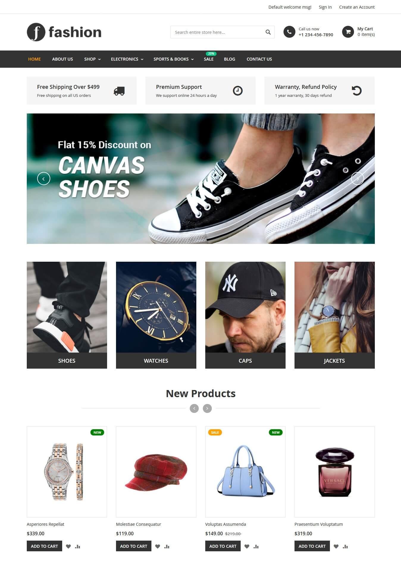 Fashion Magento 2.2.6 Theme
