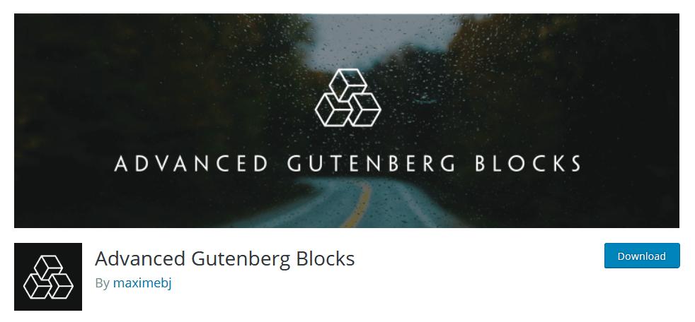Advanced Gutenberg Blocks Gutenberg Plugin