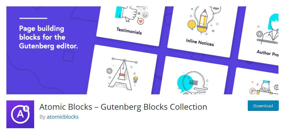Atomic Blocks Gutenberg Plugin