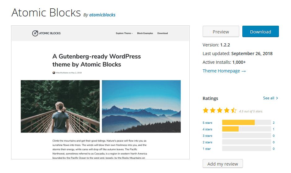 Atomic Blocks Gutenberg WP Theme