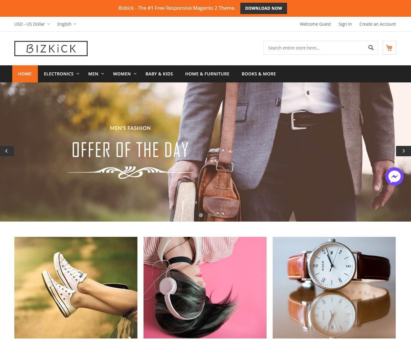Best Free Magento 23 Themes For 2019 Hiddentechies