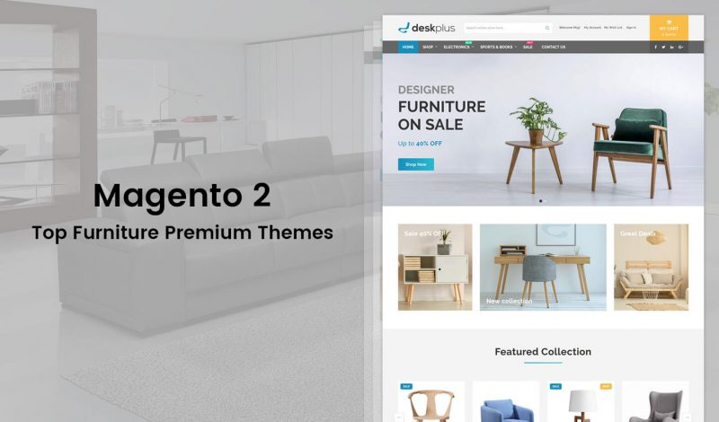 Furniture Responsive Magento 2 Themes