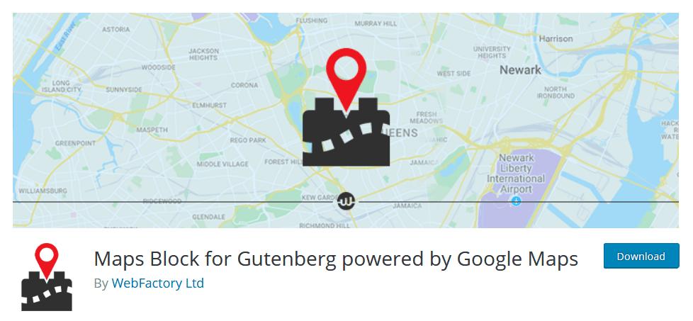 Maps Block Gutenberg Plugin