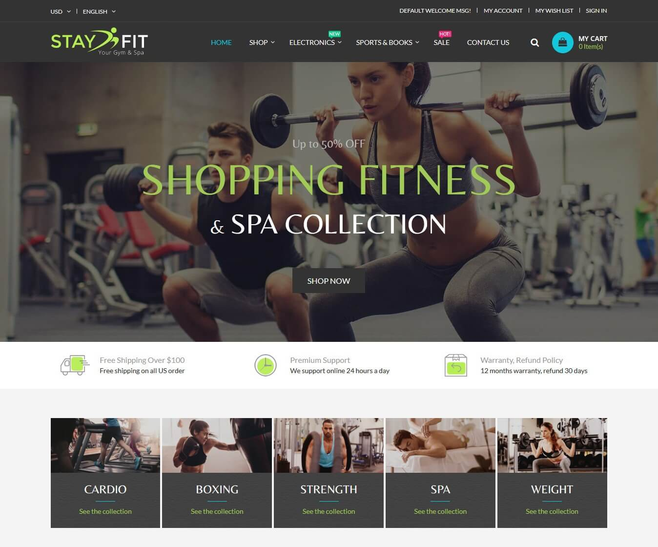 StayFit Magento Theme