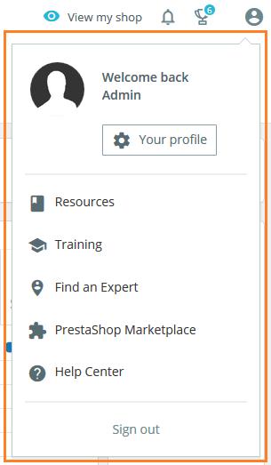profile-menu-prestashop