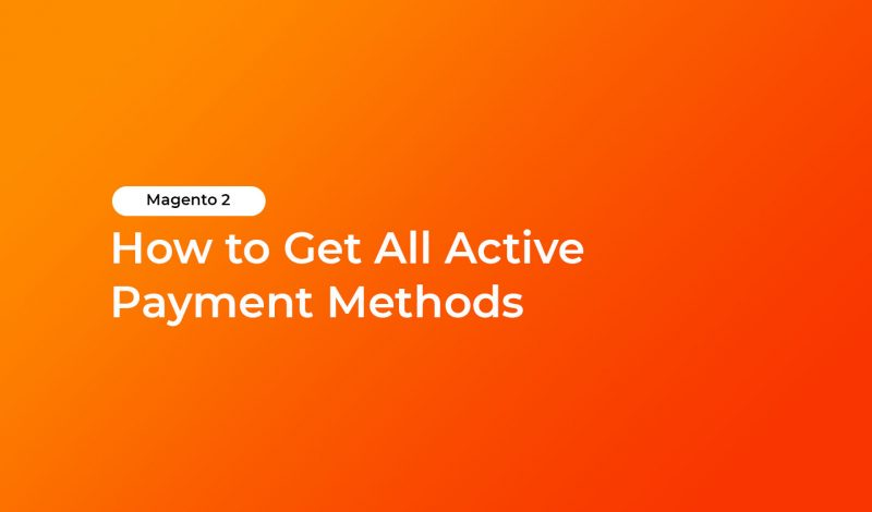 get all active payment methods