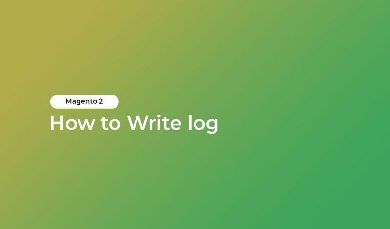 How to Write log