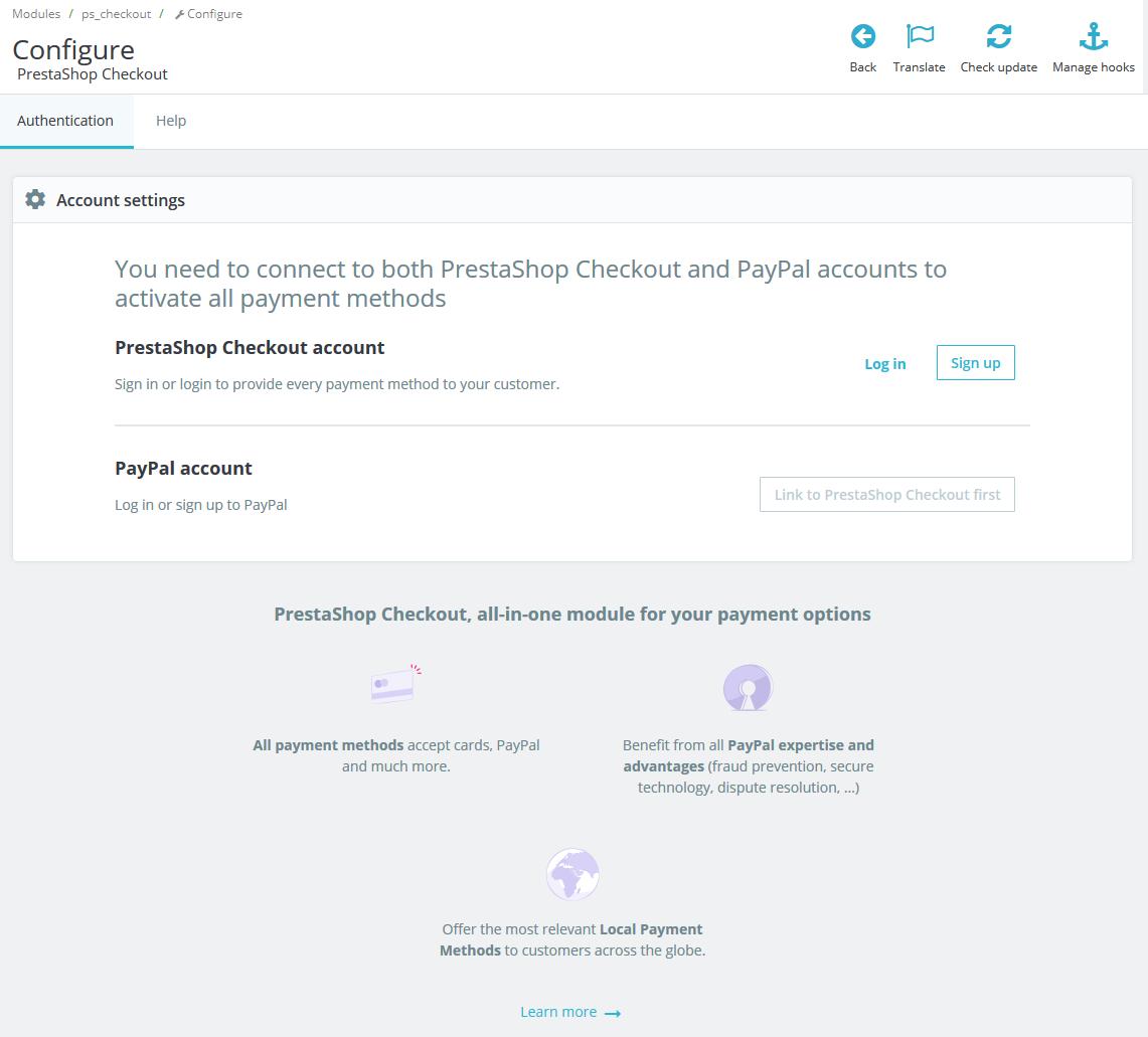 PrestaShop Checkout Module