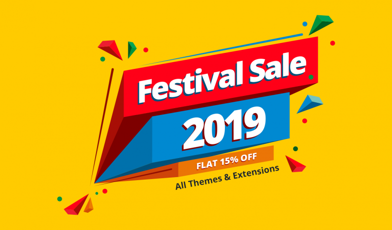 Festival Sale 2019! 15% OFF on Magento 2 & PrestaShop Themes
