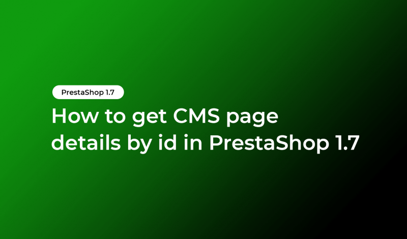 get CMS page details by id
