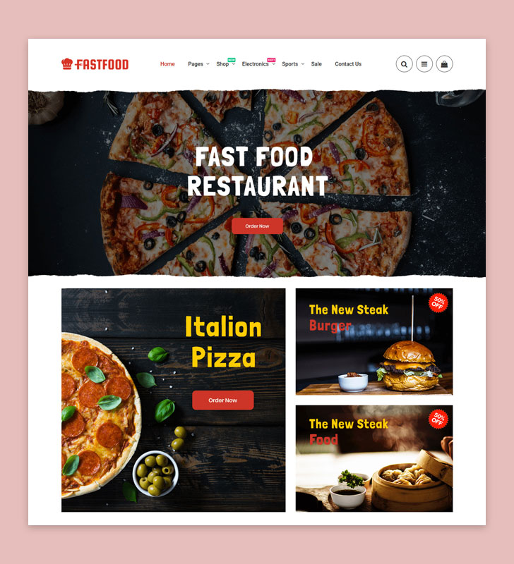 FastFood HiddenTechies Theme