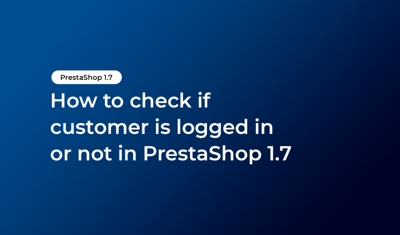 check if customer is logged in or not