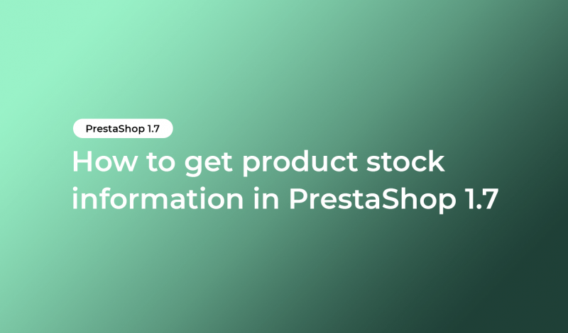 get product stock information