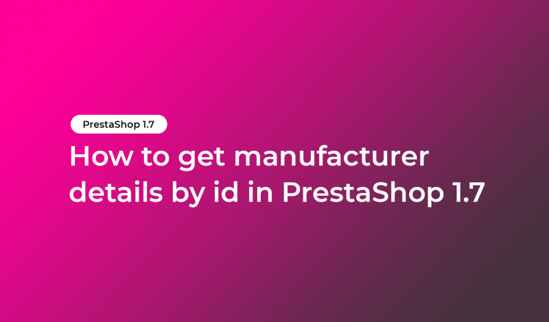 get manufacturer details by id
