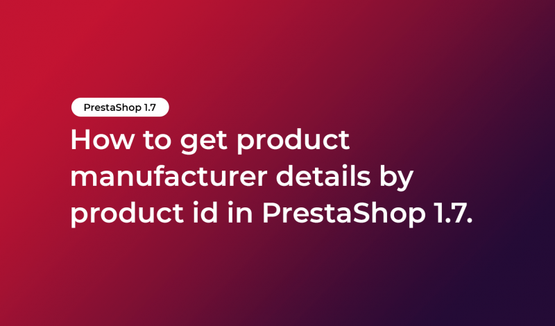 get product manufacturer details by product id