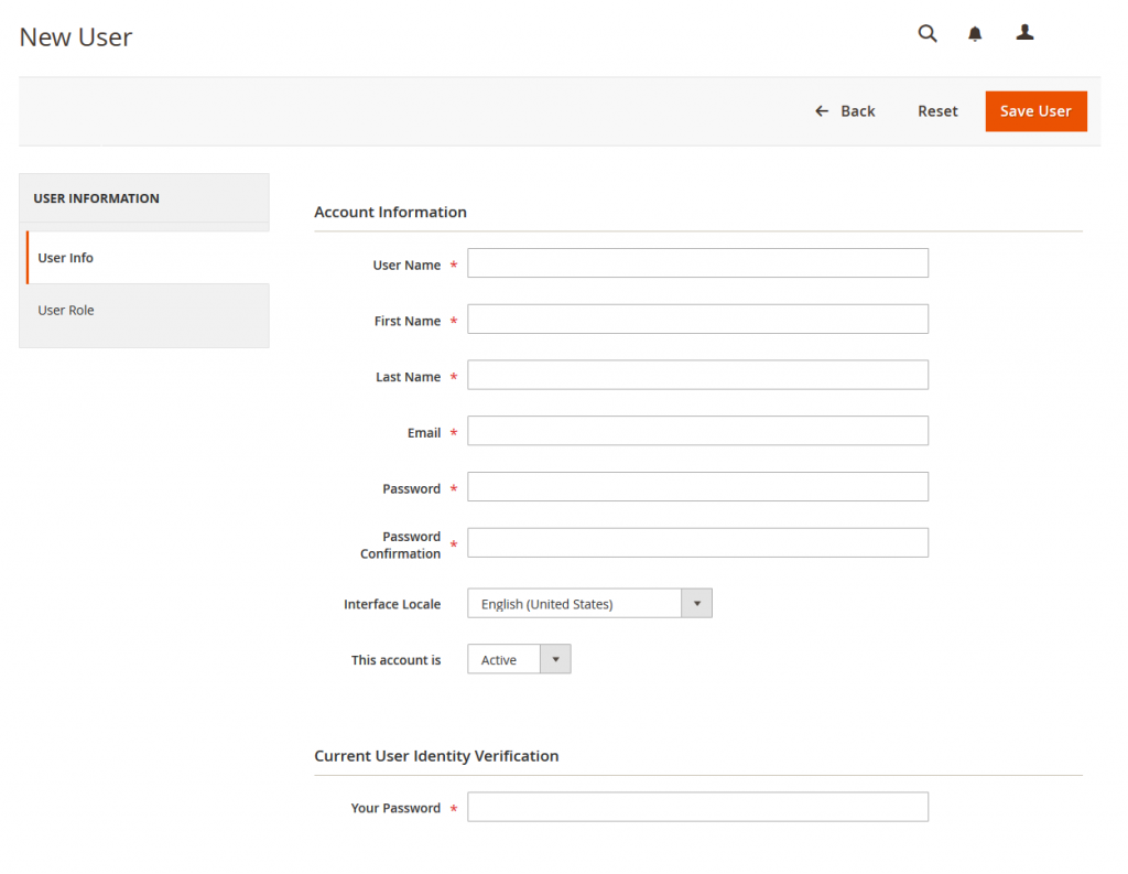 How to Create a New User in Magento 2
