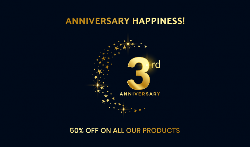 HiddenTechies 3rd Anniversary - Our Biggest Anniversary Sale Live Now!