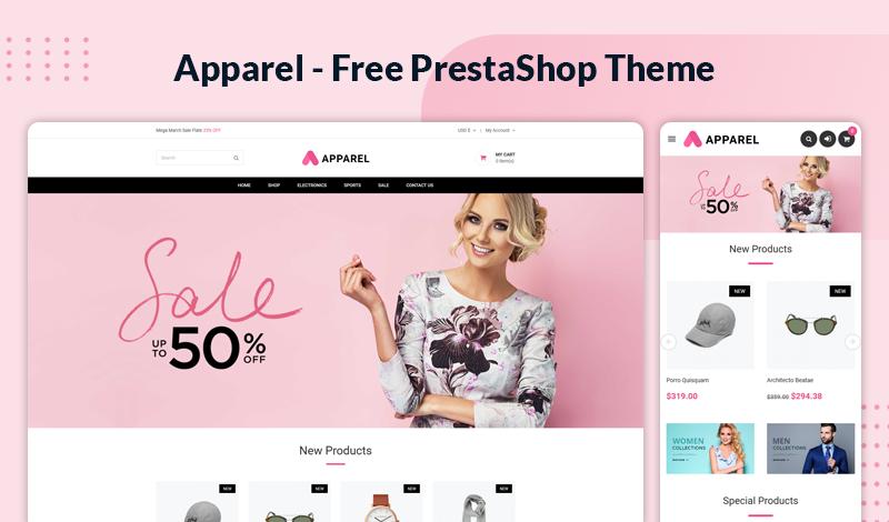 Apparel – Multipurpose Responsive Free Prestashop 1.7 Theme