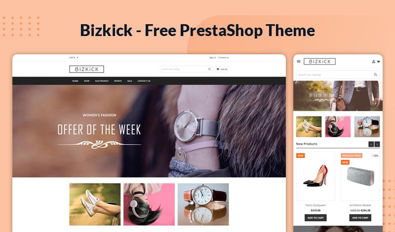 BizKick – Free & Responsive Theme for Prestashop 1.7