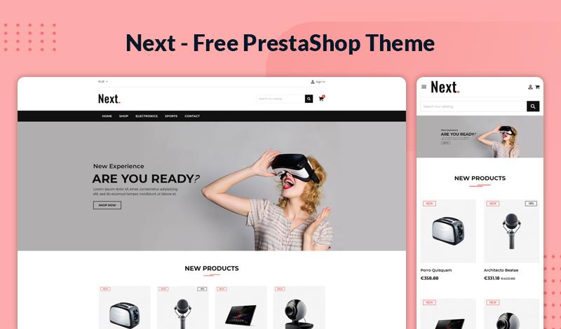 Next– Free & Responsive Theme for Prestashop 1.7