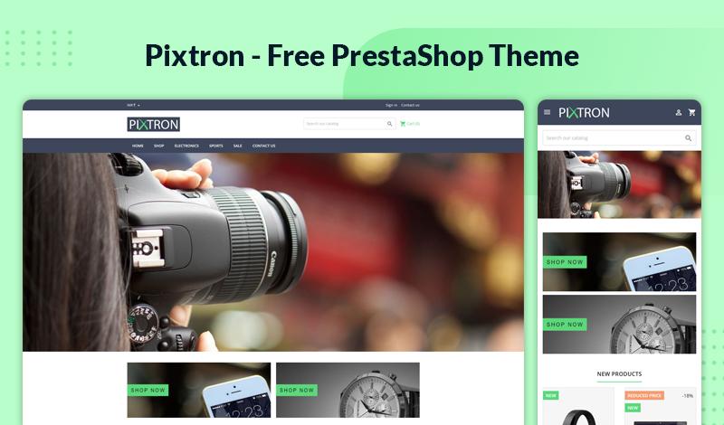 Pixtron – Free & Responsive Theme for Prestashop 1.7