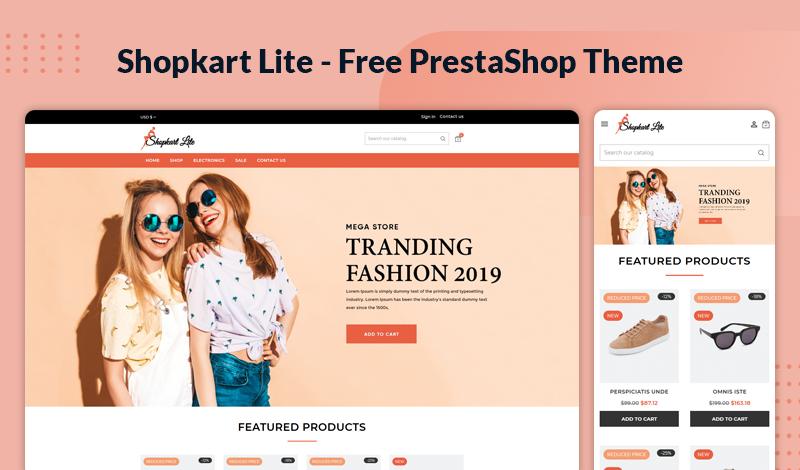 Shopkart Lite – Free Responsive Theme for Prestashop