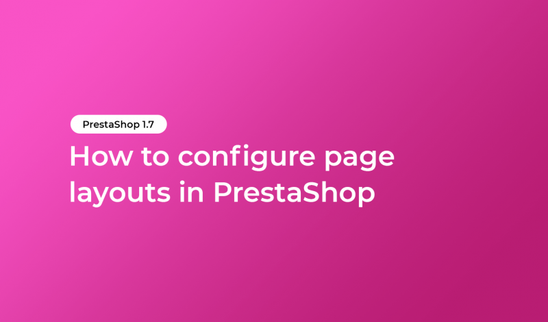 How to configure page layouts in PrestaShop
