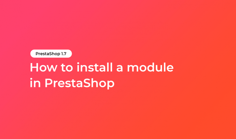 How to install a module in PrestaShop