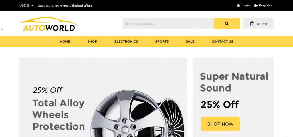 Auto Parts Store PrestaShop Templates