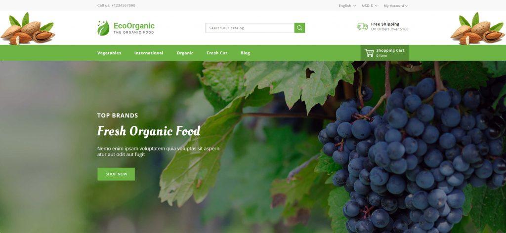 Best Mobile Ready Organic Food PrestaShop Templates