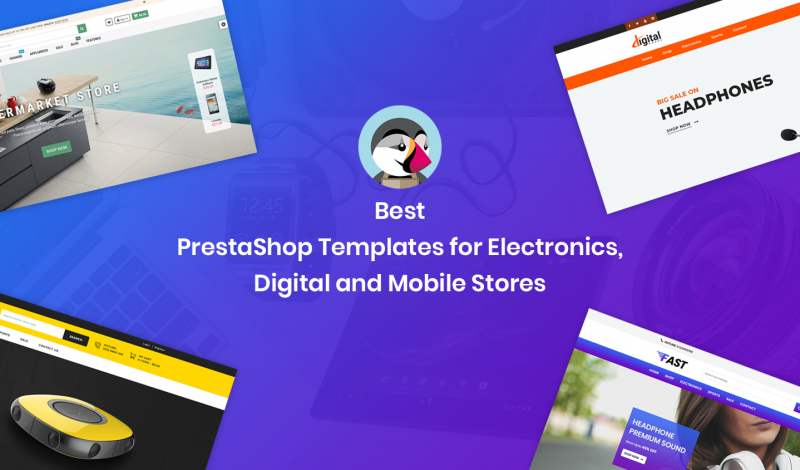 Best PrestaShop Templates for Electronics, Digital and Mobile Stores