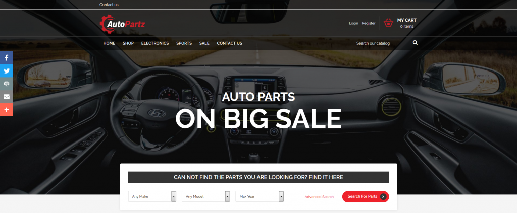 Top Auto Parts Store PrestaShop Templates