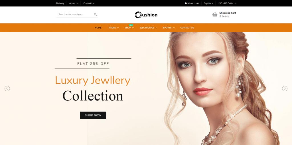 Cushion - Jewelry Magento 2 Theme
