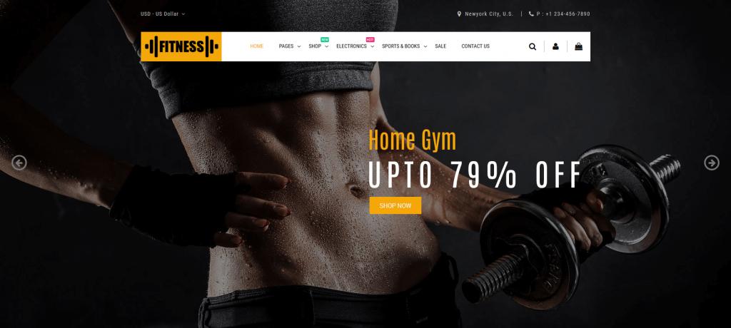Fitness - Sports & Fitness Magento 2 Theme