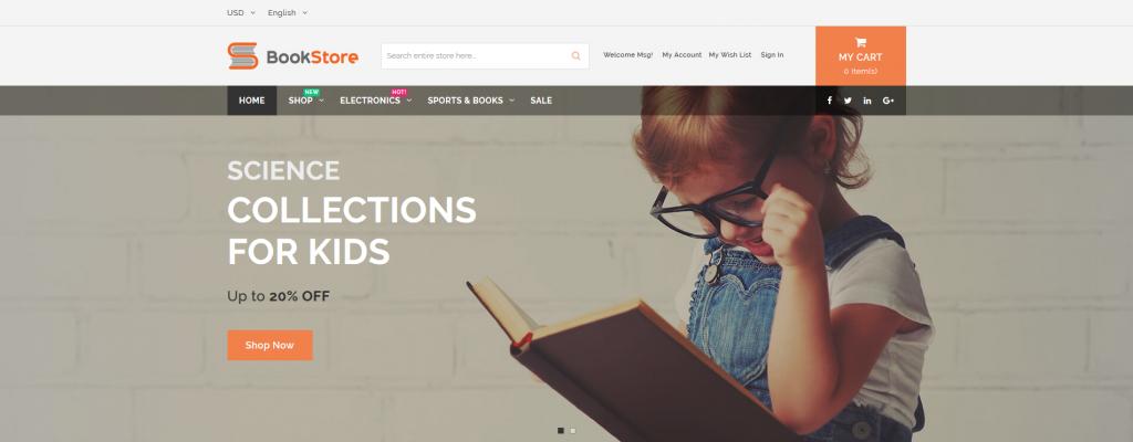 BookStore - Books & Entertainment Magento 2 Theme