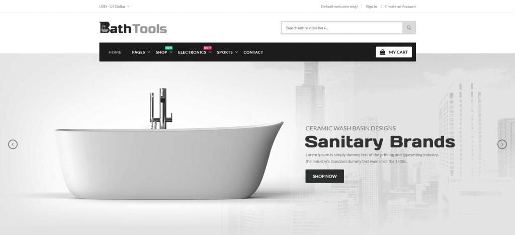 BathTools - Hardware & Sanitary Magento 2 Theme