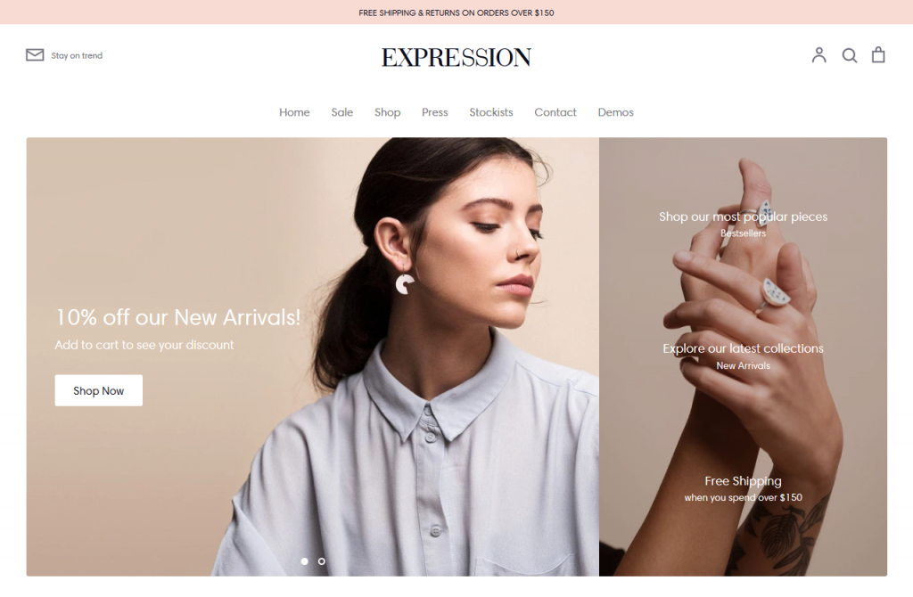 Expression - Jewelry Shopify Theme