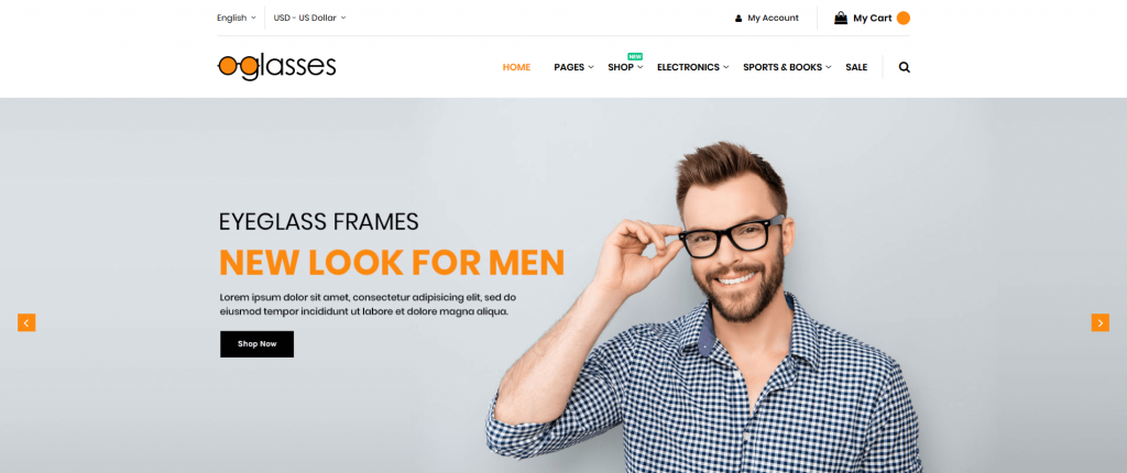 Glasses - Premium Magento 2 Theme