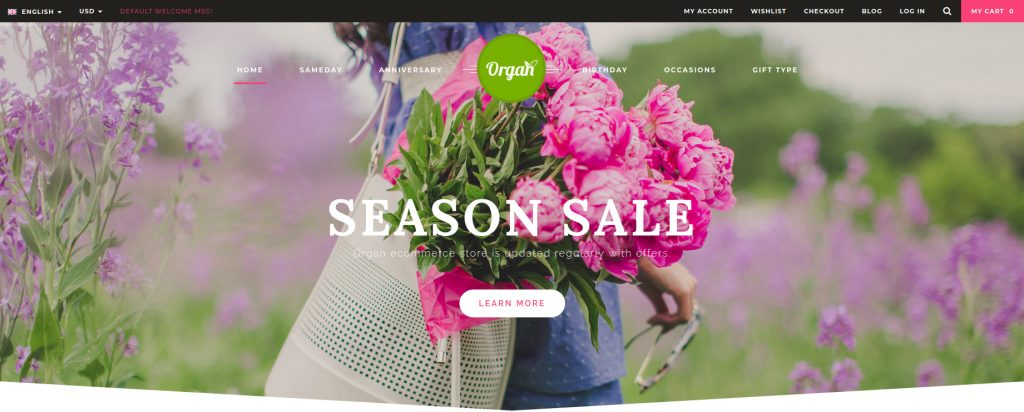 Organ - Organic Store & Flower Shop Responsive Magento Theme