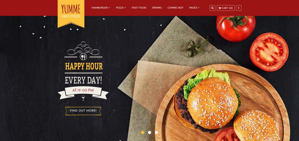 Yumme - Food Court Responsive Sectioned Shopify Theme
