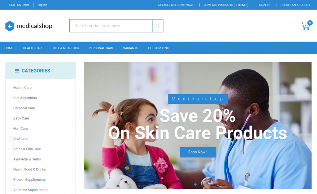 MedicalShop - Pharmacy and Drug Store Magento Responsive Theme