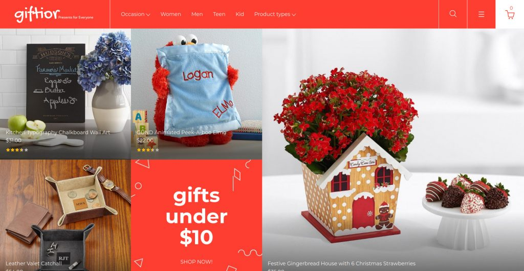 Giftior - Gift & Flowers Magento 2 Theme