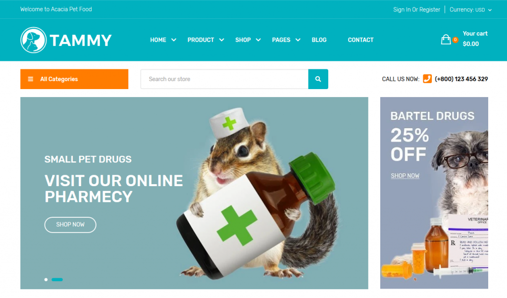 Tammy - Animal & Pets Shopify Theme