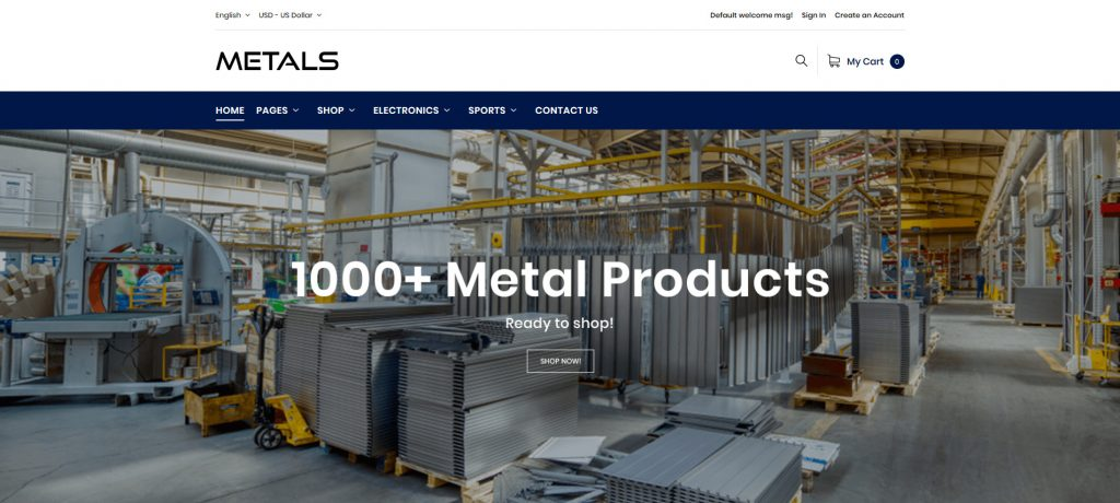 Metals - Hardware & Sanitary Magento 2 Theme
