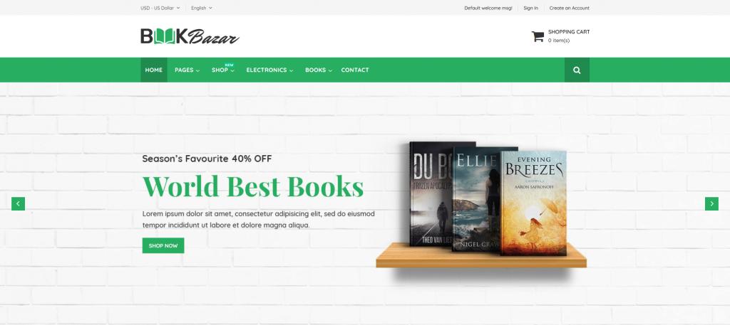 BookBazar - Books & Entertainment Magento 2 Theme