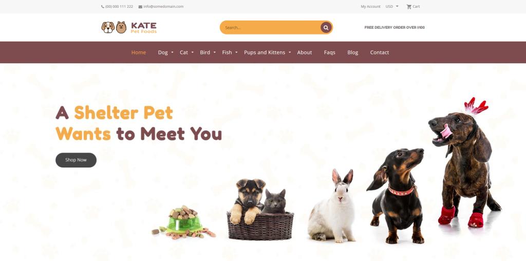 Kate - Animal & Pets Shopify Theme